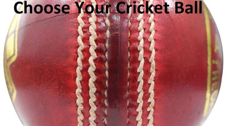 Choose your Cricket Ball